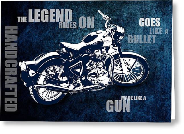 Bullet Blues With Caption Greeting Card