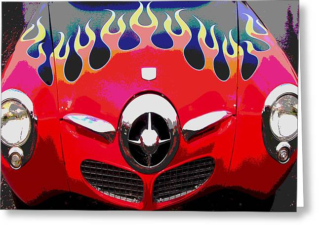 Bullet Nose Studebaker Greeting Card by Audrey Venute