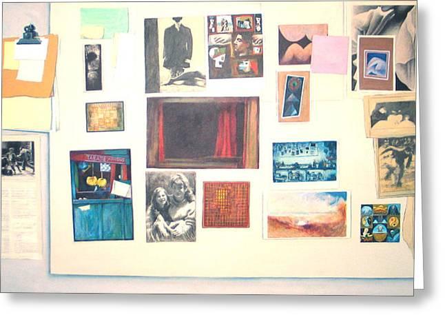 Bulletin Board Greeting Card by James LeGros
