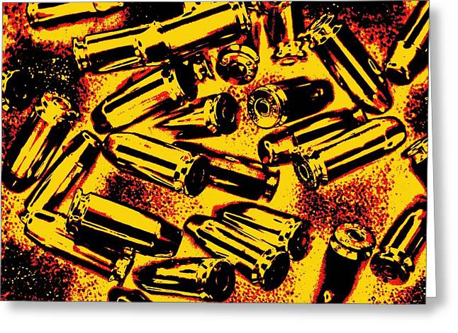 Bullets And Gunpowder Greeting Card by Dan Sproul