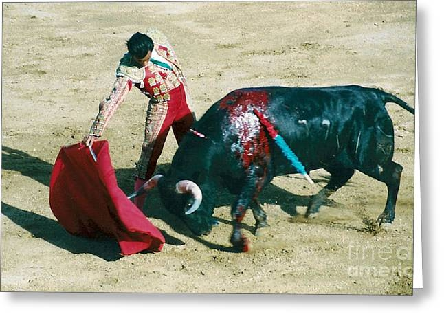 Bullfighter Greeting Card by Brent Easley