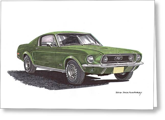 Bullitt 1968 Big Block Mustang Greeting Card by Jack Pumphrey