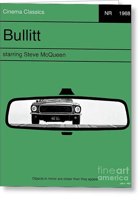 Bullitt, Steve Mcqueen, Minimalist Movie Poster Greeting Card by Thomas Pollart