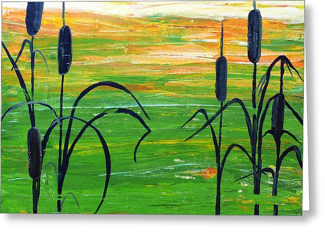 Bullrushes Greeting Card