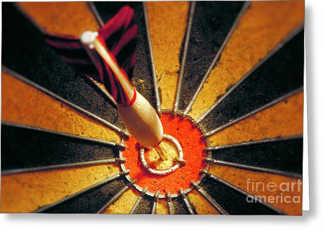 Greeting Cards - Bulls eye Greeting Card by John Greim