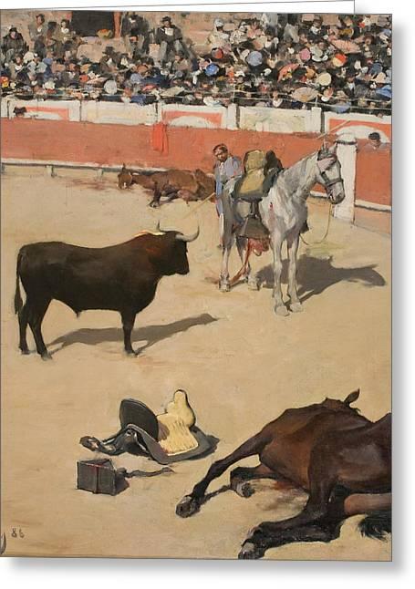 Bulls  Greeting Card by Ramon Casas