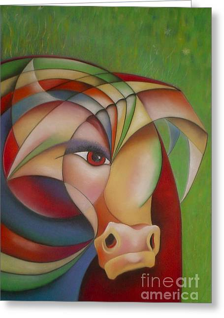 Bullseye Greeting Card by Tracey Levine