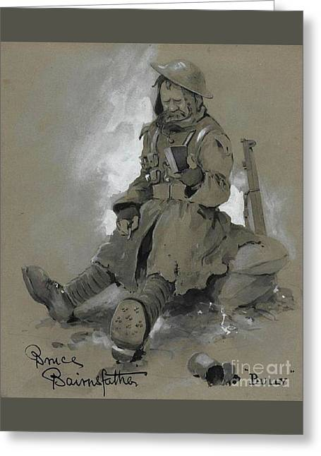 Bully. Wwi Drawing Greeting Card