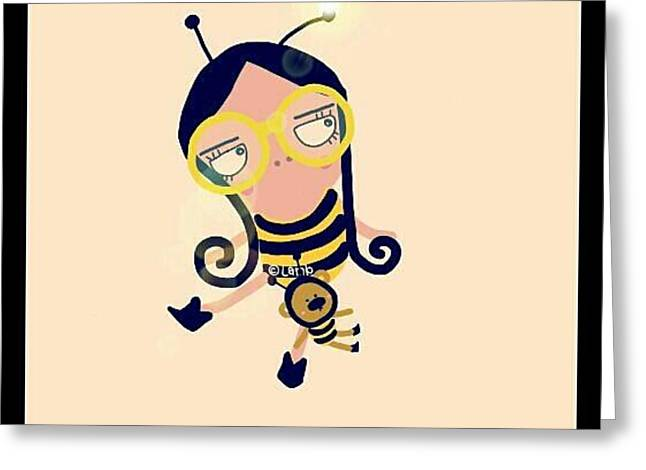 Bumble Bee  Greeting Card by Watcharee Suebkhajorn