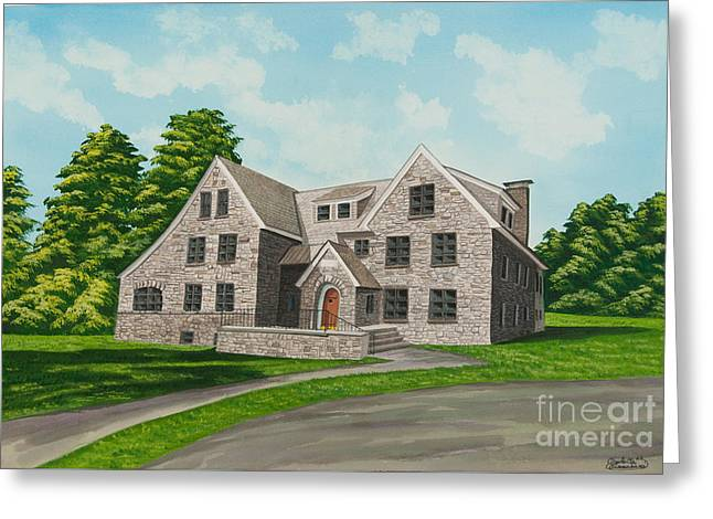 Bunch House Greeting Card by Charlotte Blanchard