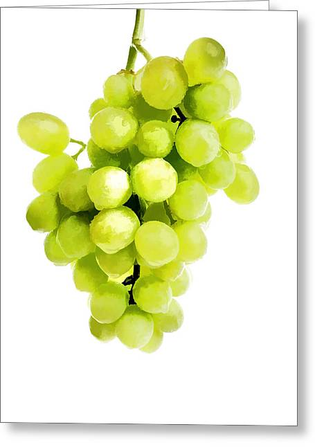Bunch Of Fresh Grapes Greeting Card by Lanjee Chee