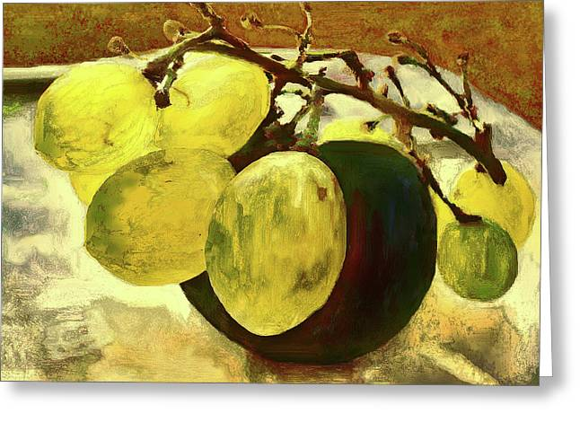 Bunch Of Grapes Greeting Card