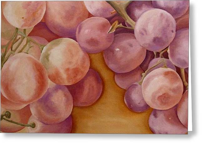 Greeting Card featuring the painting Bunch Of Grapes by Angeles M Pomata