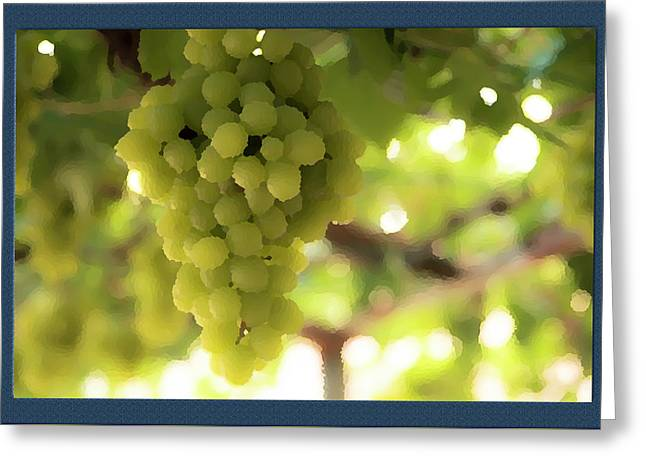 Bunch Of Grapes Greeting Card by Shay Weiss