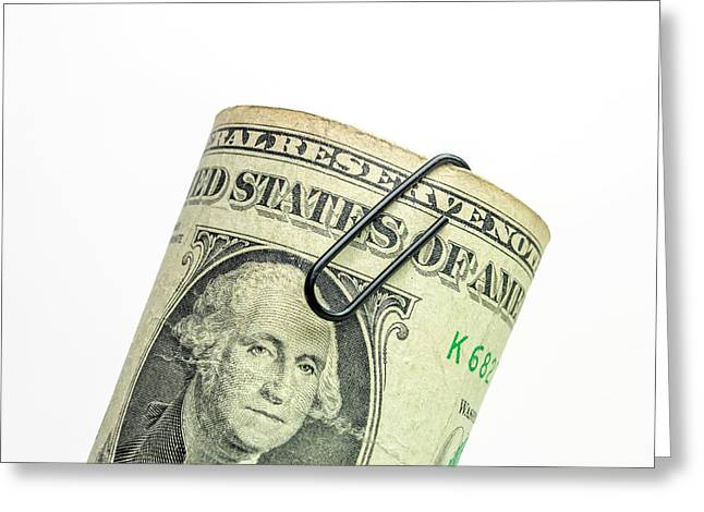 Bundle Of Banknote. Dollars. Greeting Card