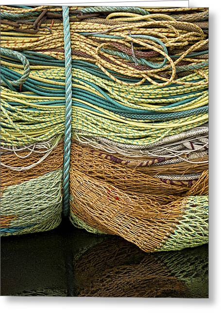 Bundle Of Fishing Nets And Ropes Greeting Card by Carol Leigh