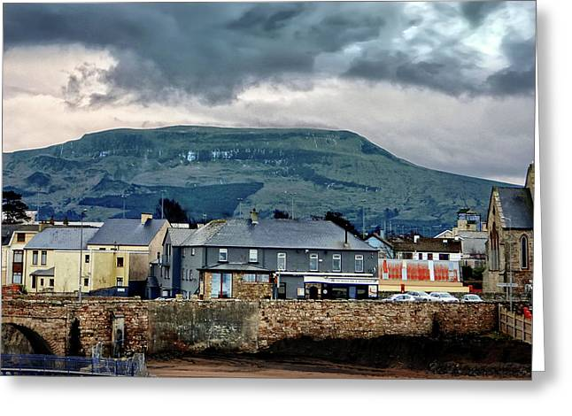 Bundoran - Bridge Bar - Looking Towards Dartry Mountains Greeting Card