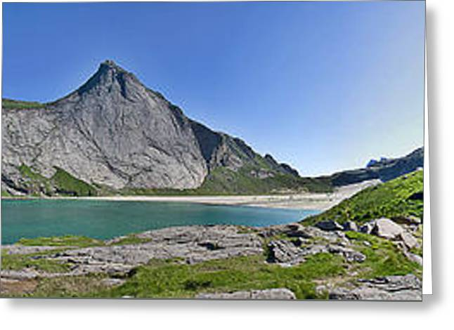 Bunes Beach Norway Greeting Card by Thomas M Pikolin