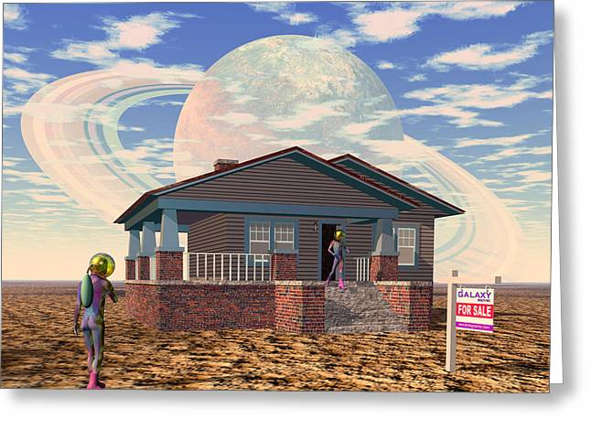 Bungalow For Sale On A Strange, New World, No. 1 Greeting Card