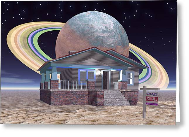 Bungalow For Sale On A Strange, New World, 2 Greeting Card