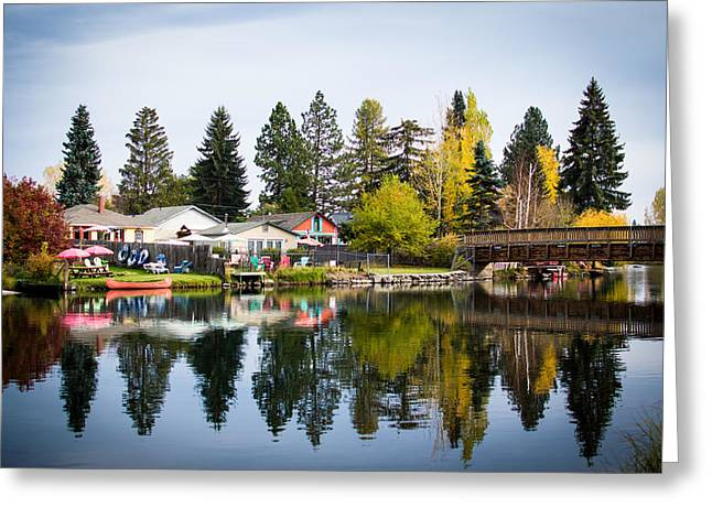 bungalows on the Deschutes Greeting Card