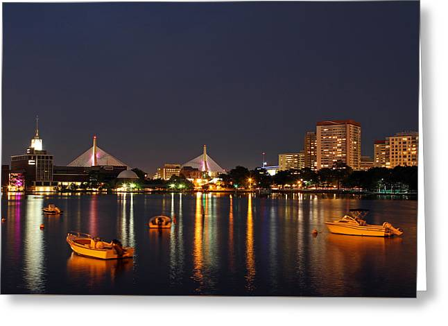 Greeting Card featuring the photograph Bunker Hill Bridge by Juergen Roth
