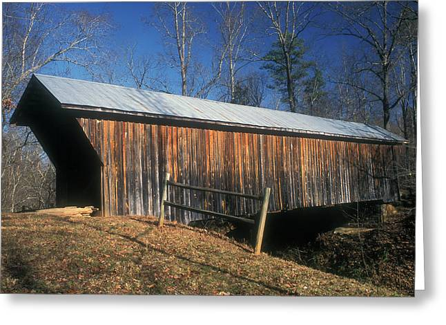 Claremont Greeting Cards - Bunker Hill Covered Bridge Greeting Card by John Burk