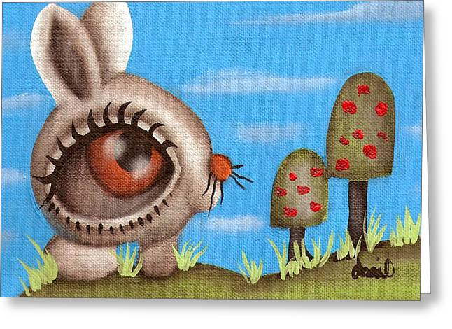 Bunny Bolita Greeting Card by  Abril Andrade Griffith