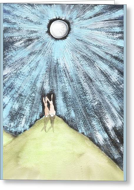 Bunny Moon Greeting Card