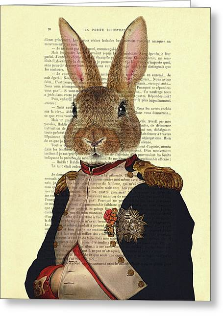 Bunny Portrait Illustration Greeting Card