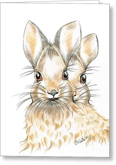 Bunny Rabbits  Greeting Card