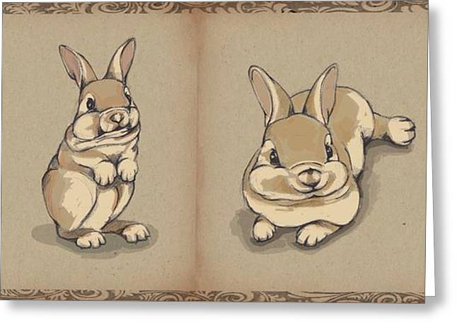 Bunny Sketch Greeting Card by Veronica Minozzi