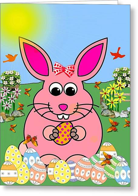 Bunny Twitter Greeting Card by Madeline  Allen - SmudgeArt
