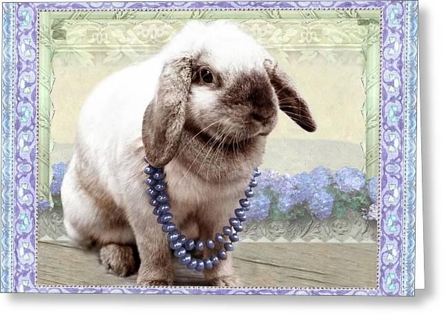 Bunny Wears Beads Greeting Card
