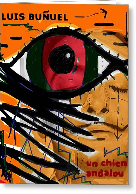 Bunuel Chien Andalou Poster  Greeting Card