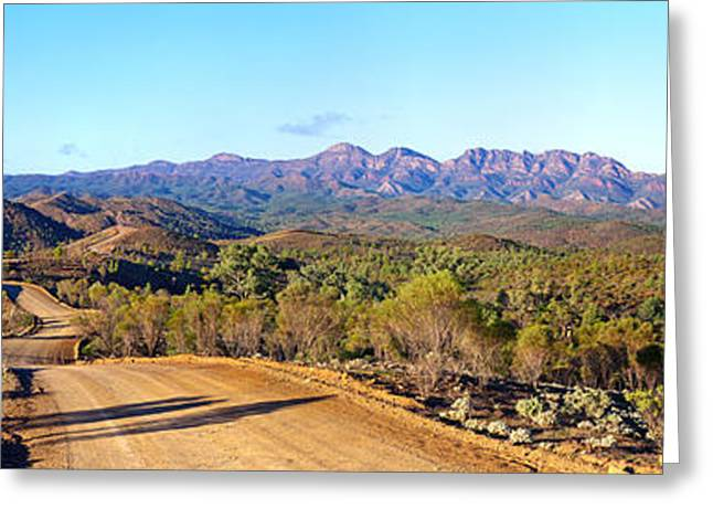 Pounds Greeting Cards - Bunyeroo Valley and Wilpena Pound Greeting Card by Bill  Robinson