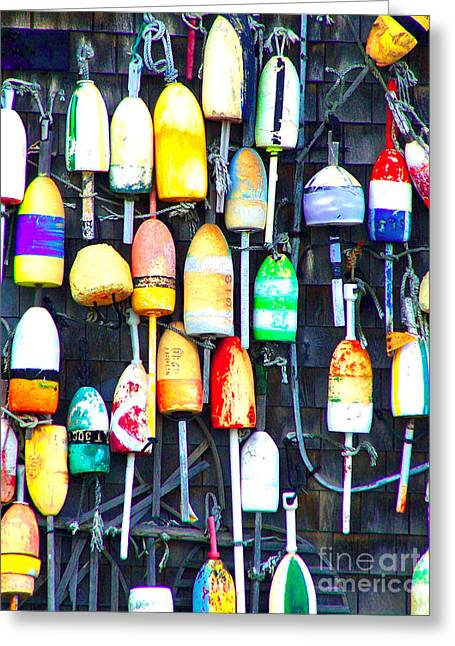 Greeting Card featuring the photograph Buoy Art by Bill Holkham