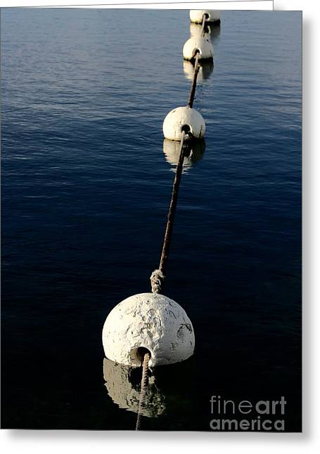 Greeting Card featuring the photograph Buoy Descending by Stephen Mitchell