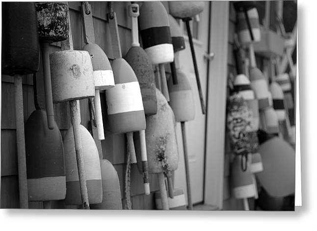 Lobster Shack Greeting Cards - Buoys Greeting Card by Eric Gendron