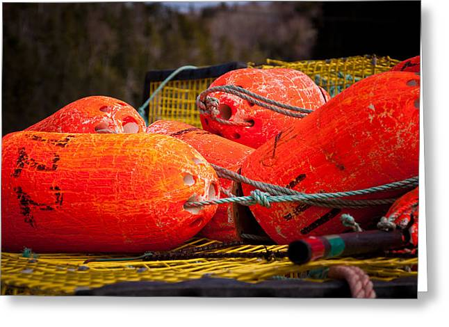 Buoys Greeting Card by Gregory Bland