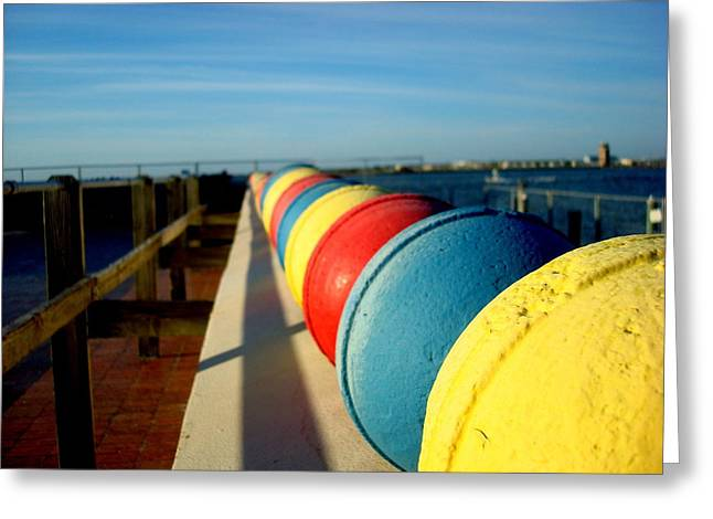 Buoys In Line Greeting Card