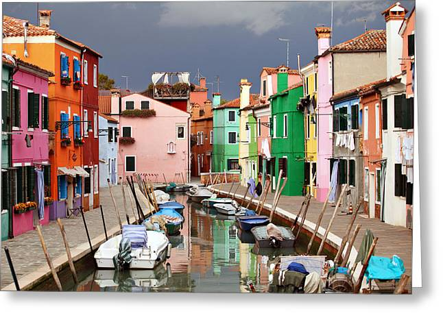 Burano Colours Greeting Card