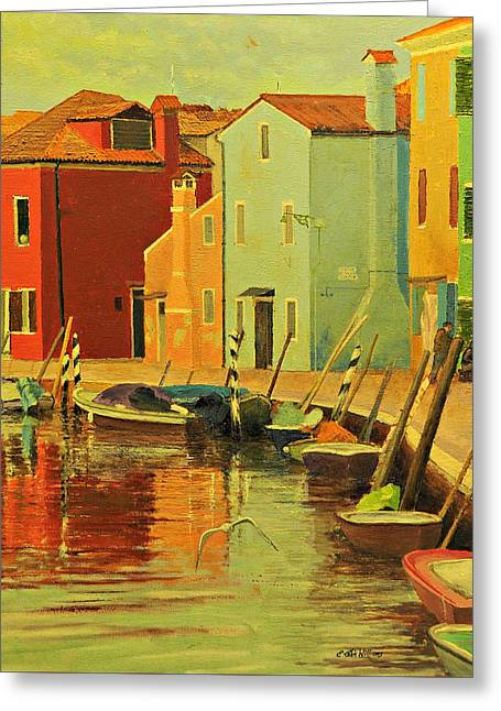 Burano, Italy - Study Greeting Card