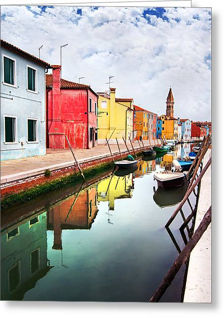 Burano Greeting Card by Ivan Vukelic