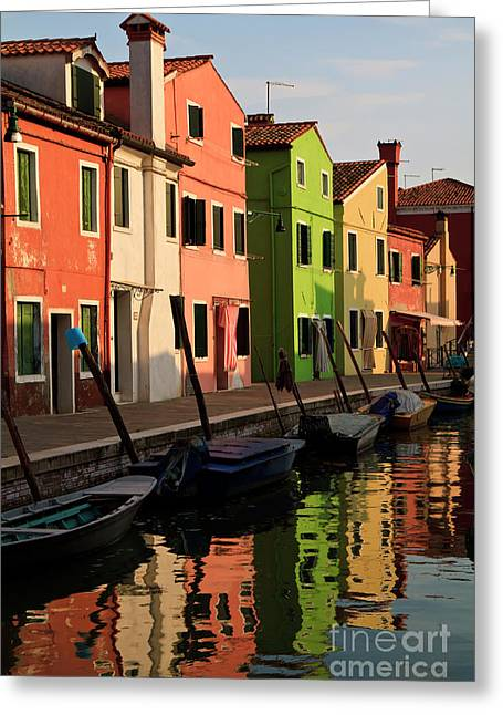Greeting Card featuring the photograph Burano Reflections by Dennis Hedberg