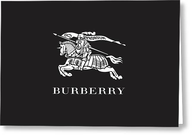 Burberry - Black And White 02 Greeting Card