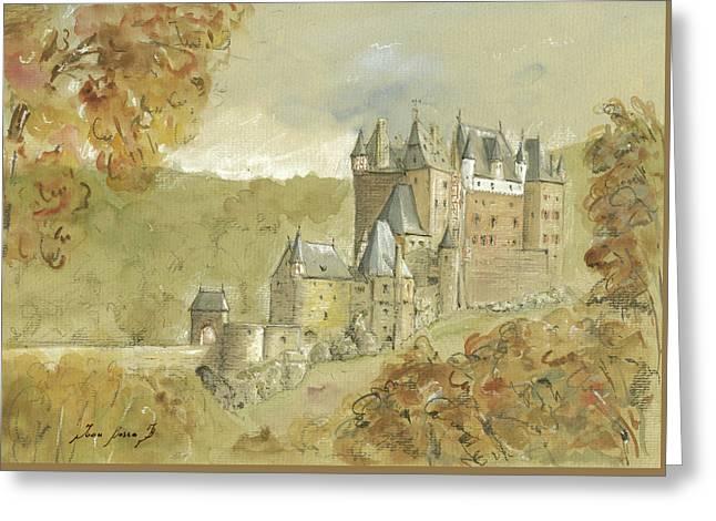 Burg Eltz Castle Greeting Card by Juan Bosco