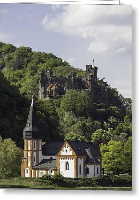 Burg Reichenstein And Clemenskapelle Greeting Card by Teresa Mucha
