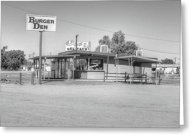 Burger Den,orig Del Taco Greeting Card