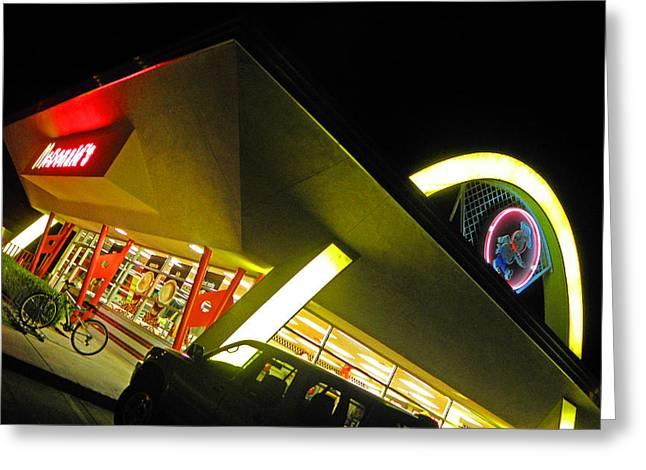 Burger Joint Greeting Card by Elizabeth Hoskinson